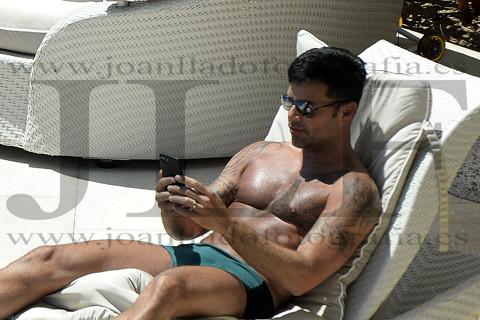 Ricky Martin se relaja en Mallorca